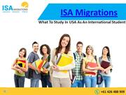 What To Study In USA As An International Student
