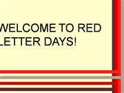 Red Letter Days - Justin Auger