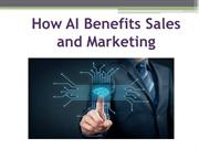 How AI Benefits Sales and Marketing