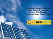 Here Is A Company Offering Wide Range Of Access Control And Security E