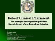 Medication related problems examples