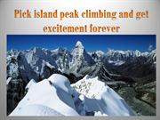 Pick island peak climbing and get excitement forever