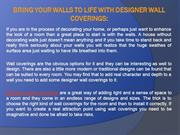 Bring Your Walls to Life With Designer Wall Coverings