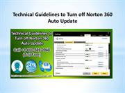 Dial 1-800-589-0948 for Guidelines to Turn off Norton 360 Auto Update