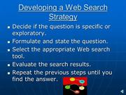 Web Searching