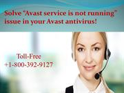"""Solve """"Avast service is not running"""" issue in your Avast antivirus!"""