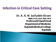 Infection in critical care setting