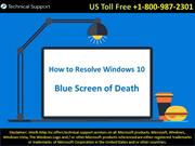 How to Resolve Windows 10 Blue Screen of Death Errors