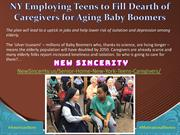 NY Employing Teens to Fill Dearth of Caregivers for Aging Baby Boomers
