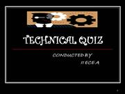 TECHNICAL QUIZ