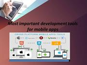 Mobile application development tools