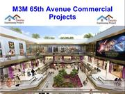 M3M 65th Avenue Commercial Projects@+91 92123 06116