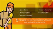 5 Reasons to Hire a commercial mover for business relocation