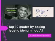 Top 10 quotes by boxing legend Muhammad Ali