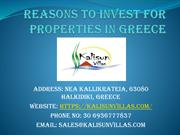 Reasons To Invest For Properties In Greece