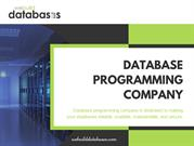 Database programming company - We Build Databases