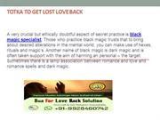 Totka to Get Lost Love Back