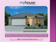 Modern house designs and plans in Australia