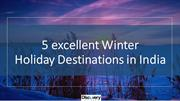 5 Amazing Winter Destination You Must To Visit Once