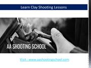 Clay Shooting Lesson from AA Shooting School