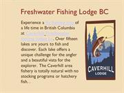 Freshwater fishing lodge bc