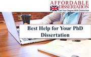 Best Help for Your PhD Dissertation
