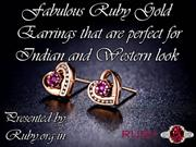 Fabulous Ruby Gold Earrings that are perfect for Indian and Western lo