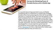 Harness the Marketing Power of Portable Devices with a Mobile App