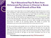 Top 4 Educational Toys To Rent from Khilonewala Toy Library in Chennai