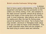British columbia freshwater fishing lodge
