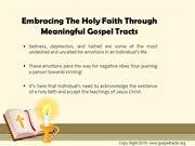 Embracing The Holy Faith Through Meaningful Gospel Tracts