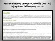 Oakville ON Injury Lawyer