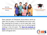 What are the tips to clear CA exam successfully