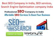 Best SEO Company in India, SEO services