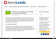 10 Ways to Supercharge Your B2B Lead Generation Efforts