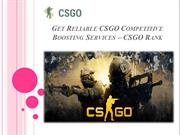 Get Reliable CSGO Competitive Boosting Services