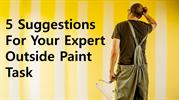 Suggestions for your expert outside Paint Task