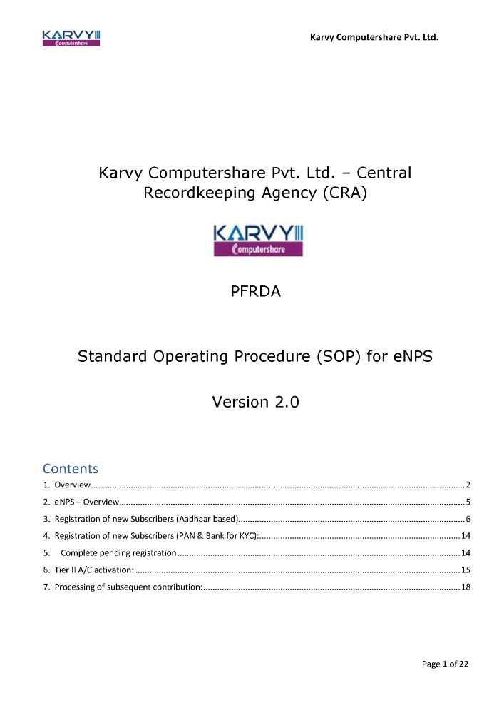 Standard Operating Procedure Sop For Enps Authorstream