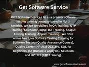 Get Software Service - QTP Training in Toronto