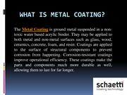 Metal Coating - Thermoplastic Metal Coating - Schaetti GA
