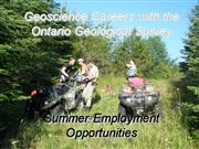 Ontario Geological Survey summer student