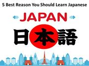 5 Best Reason You Should Learn Japanese Language