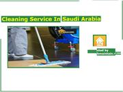 Cleaning Services In  Saudi Arabia
