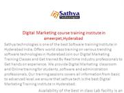 digital marketing  course training institute  in hyderabad ameerpet
