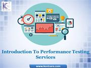 Introduction To Performance Testing | Performance Testing Service