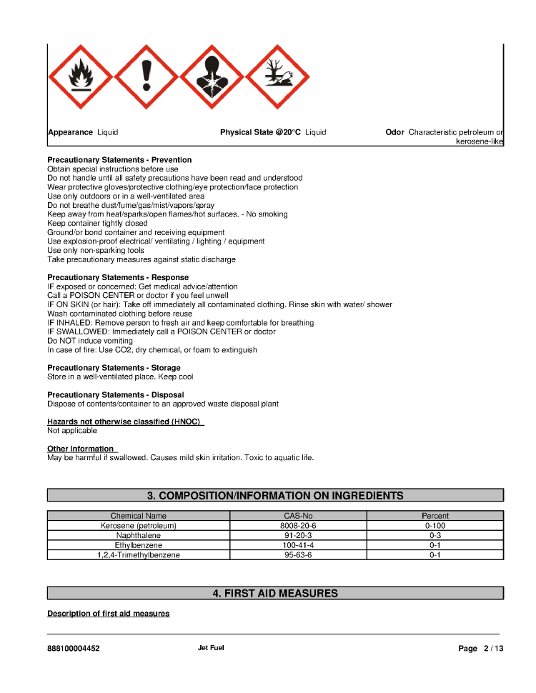 Jet-A Fuel Data Safety Sheet- Tribute Aviation |authorSTREAM