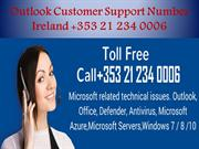 Outlook Customer Support Number Ireland +353 21 2340006