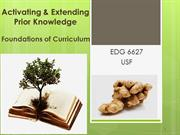 Activating and Extending Prior Knowledge