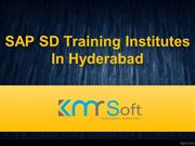 SAP SD Training In Hyderabad, SAP SD Training Institutes in Hyderabad