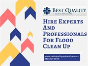 Hire Experts and Professionals for Flood Clean Up